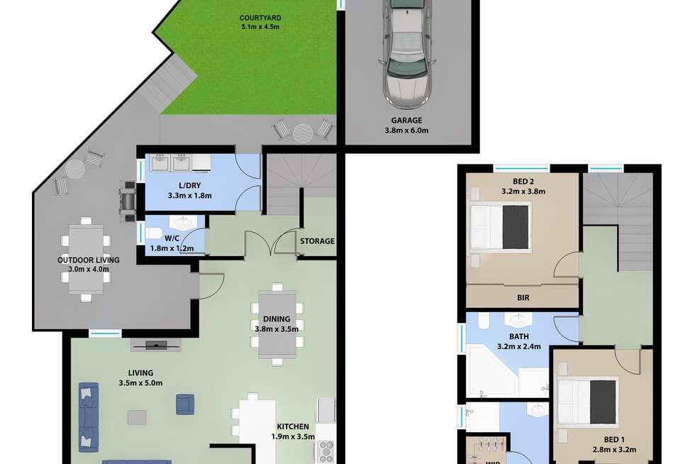 Floorplan of Homely townhouse listing, 2/20 Church Street, Port Kembla NSW 2505
