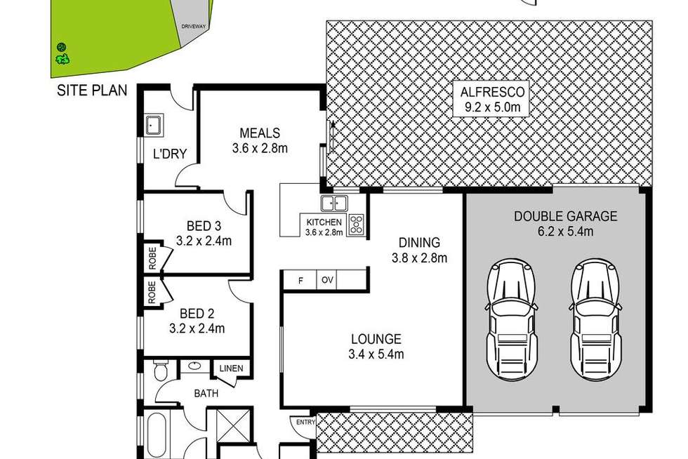 Floorplan of Homely house listing, 13 Hinkler Place, Doonside NSW 2767