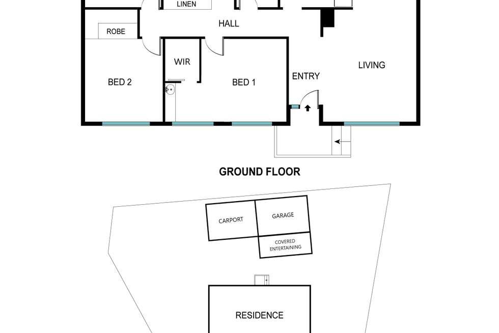 Floorplan of Homely house listing, 1 Pickworth Street, Holt ACT 2615