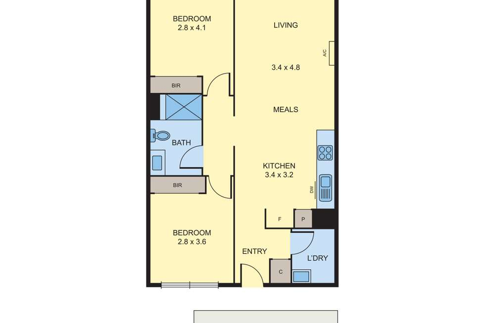 Floorplan of Homely apartment listing, D314/460 Victoria Street, Brunswick VIC 3056