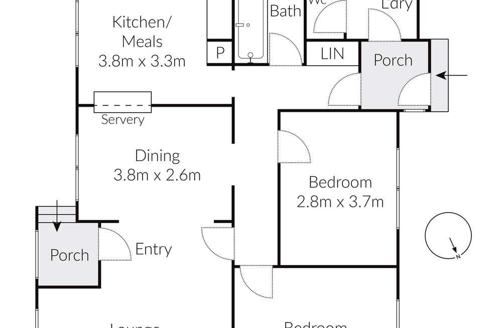 Floorplan of Homely house listing, 73 Ontario Avenue, Corio VIC 3214
