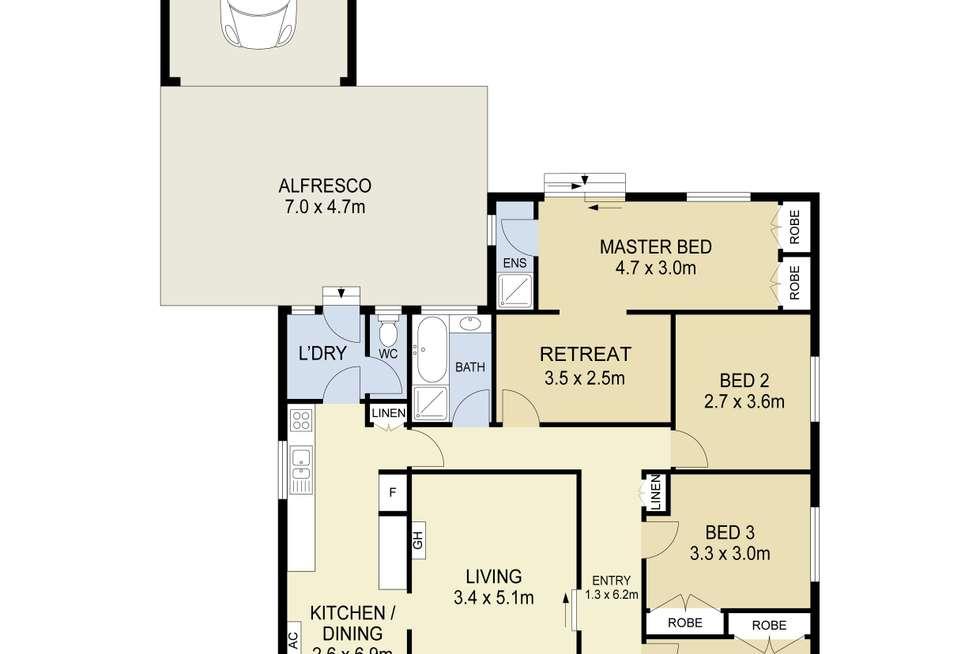 Floorplan of Homely house listing, 66 Trafalgar Street, Albanvale VIC 3021