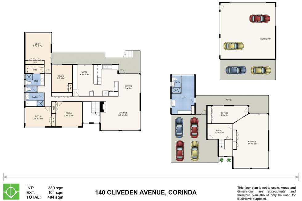 Floorplan of Homely house listing, 140 Cliveden Avenue, Corinda QLD 4075