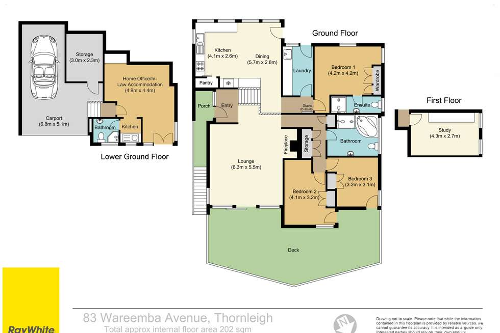 Floorplan of Homely house listing, 83 Wareemba Avenue, Thornleigh NSW 2120