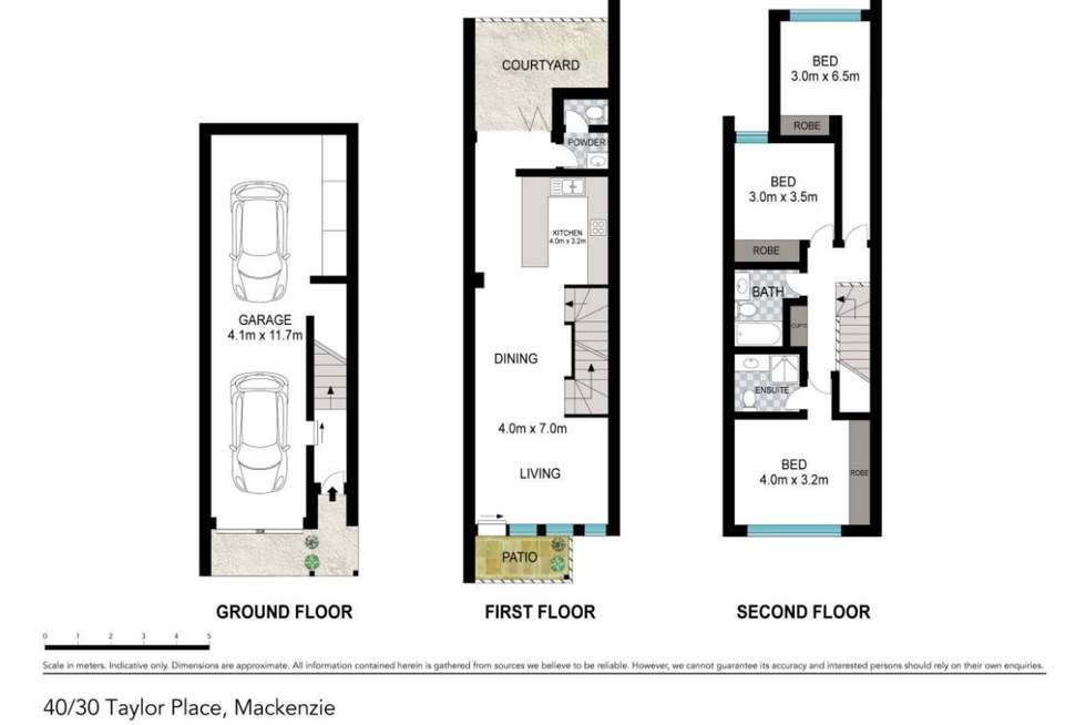 Floorplan of Homely townhouse listing, 40/30 Taylor Place, Mackenzie QLD 4156
