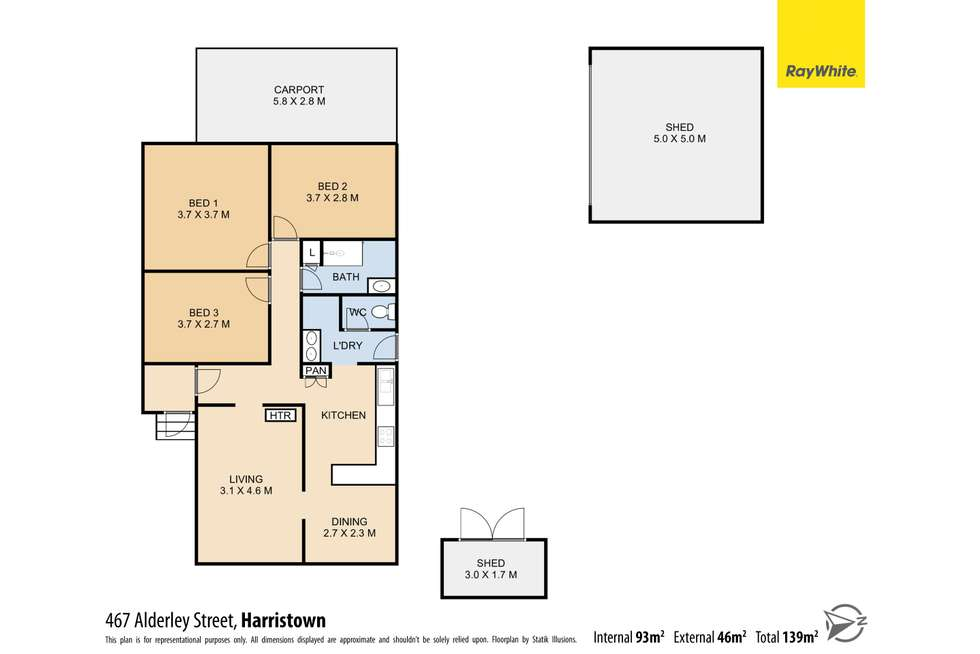 Floorplan of Homely house listing, 467 Alderley Street, Harristown QLD 4350