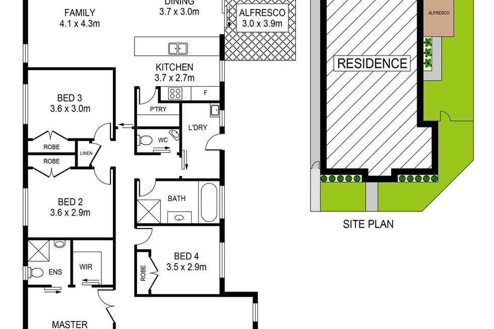 Floorplan of Homely house listing, 1 Piccadilly Street, Riverstone NSW 2765