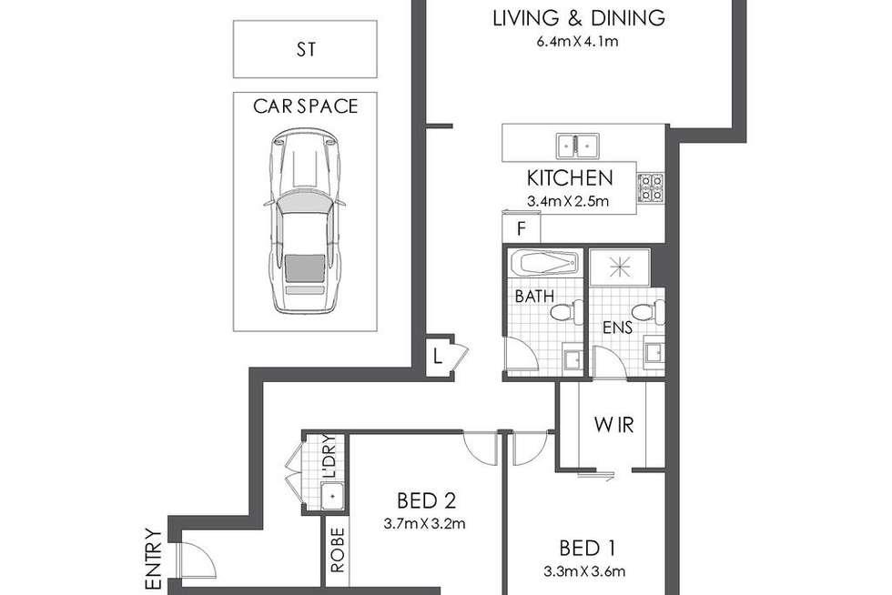 Floorplan of Homely apartment listing, 201/5 Nina Gray Avenue, Rhodes NSW 2138