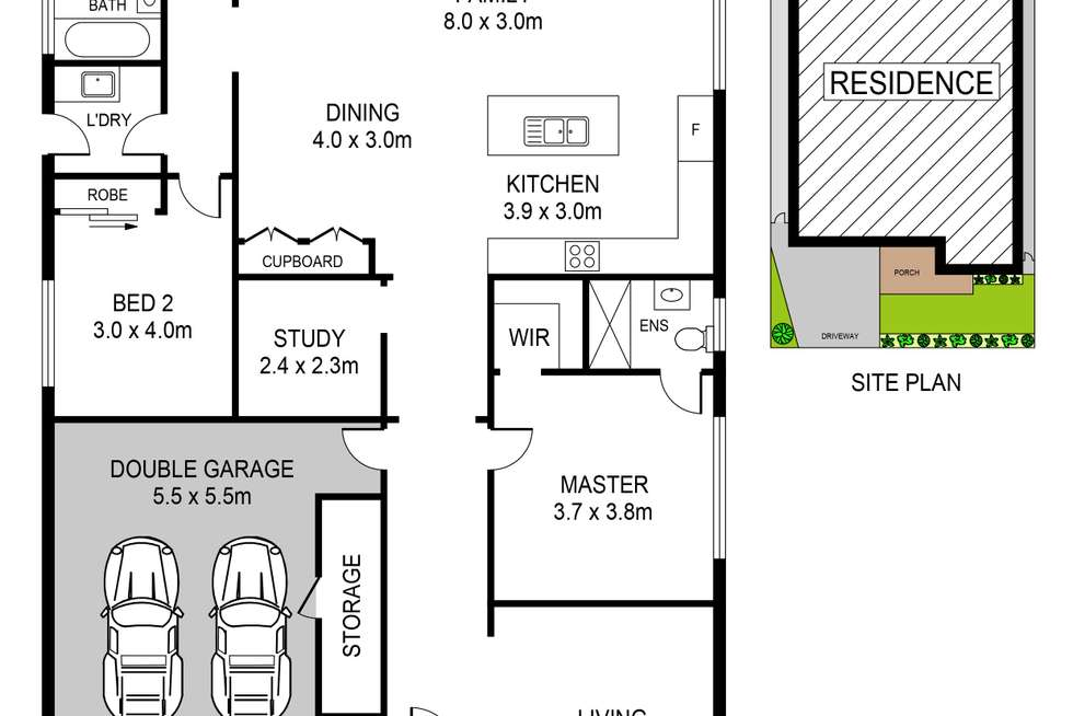 Floorplan of Homely house listing, 137 Riverbank Drive, The Ponds NSW 2769