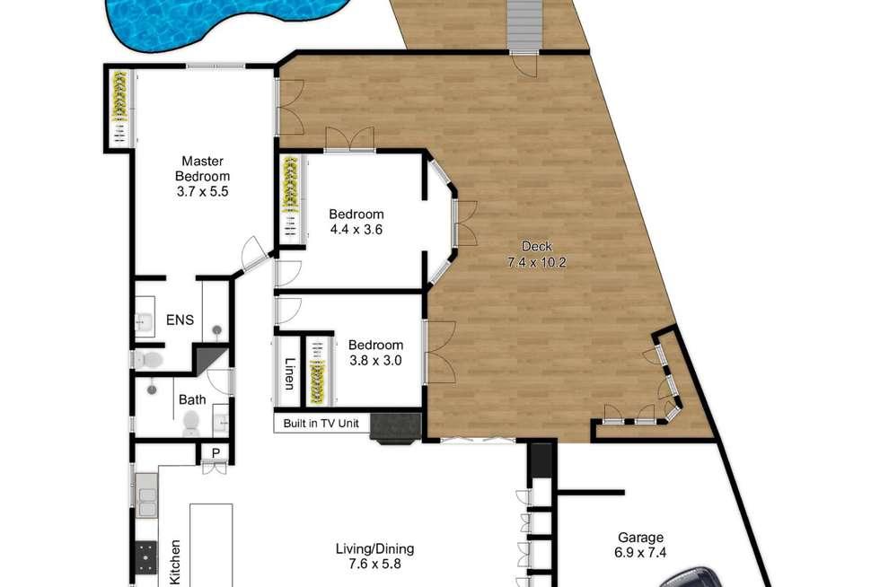 Floorplan of Homely house listing, 52 Kooringal Drive, Jindalee QLD 4074