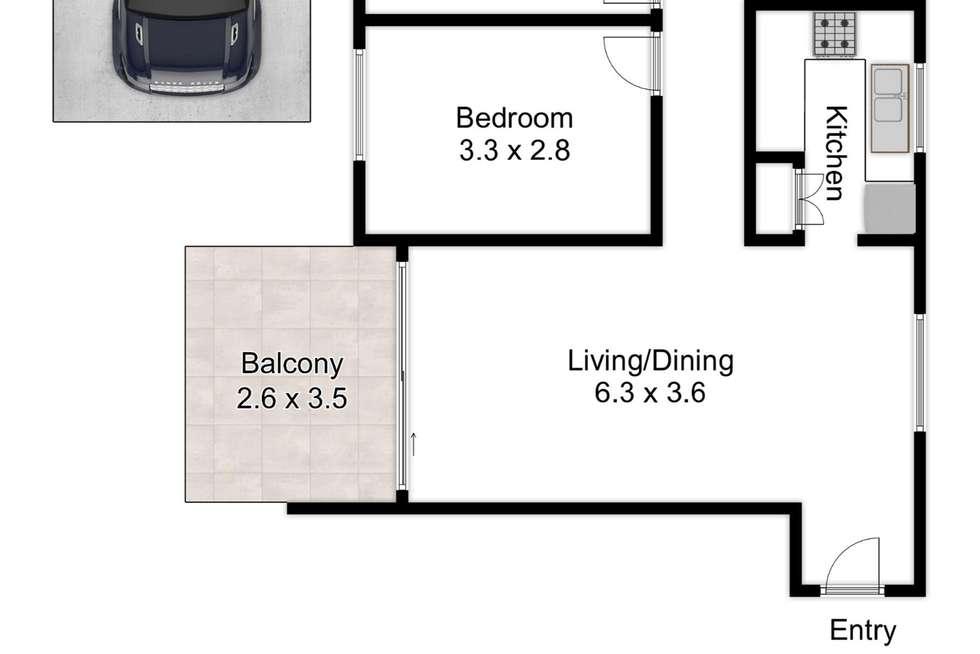 Floorplan of Homely unit listing, 6/225 Carmody Road, St Lucia QLD 4067