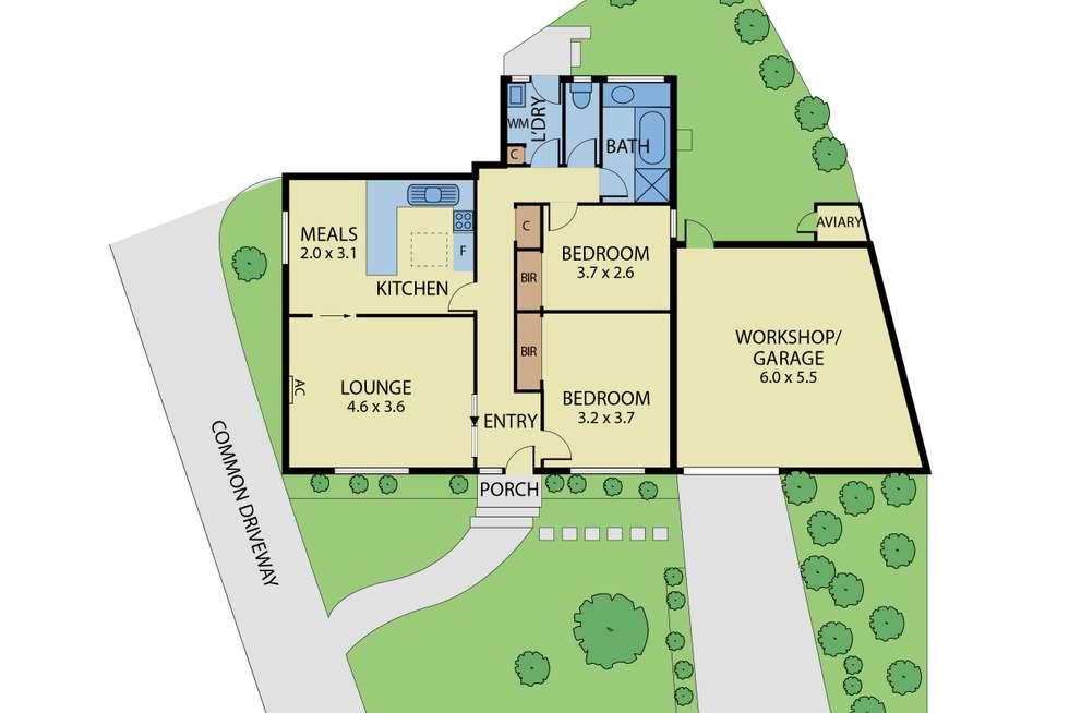 Floorplan of Homely unit listing, 1/18 Rosella Street, Murrumbeena VIC 3163