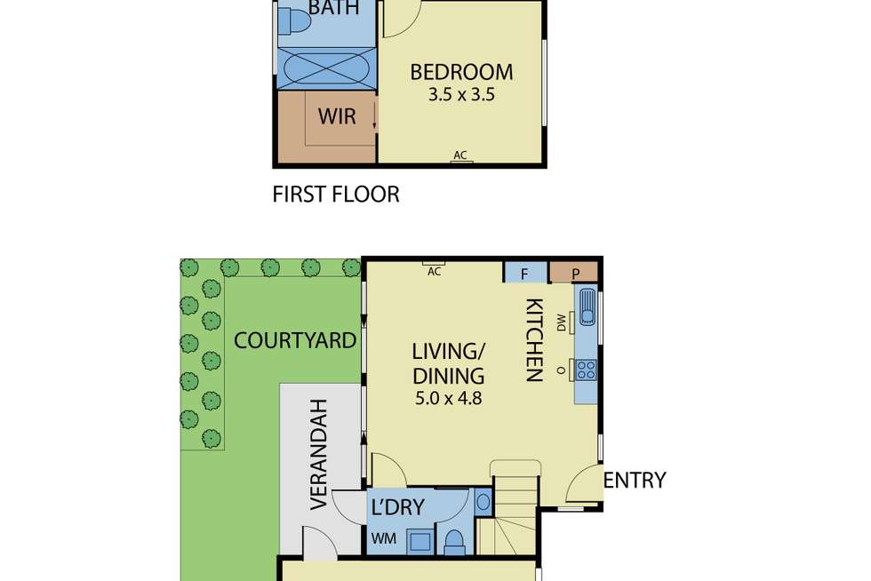 Floorplan of Homely townhouse listing, 2/34 Ames Avenue, Carnegie VIC 3163