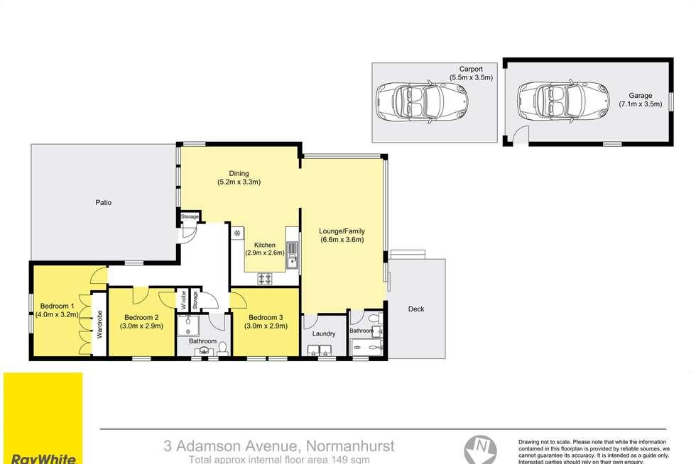 Floorplan of Homely house listing, 3 Adamson Avenue, Thornleigh NSW 2120