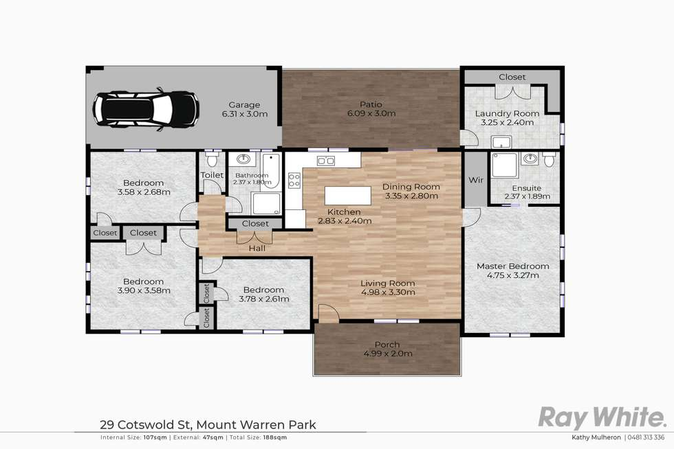 Floorplan of Homely house listing, 29 Cotswold Street, Mount Warren Park QLD 4207
