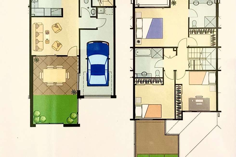 Floorplan of Homely townhouse listing, 115/66 Heathwood Drive, Upper Coomera QLD 4209