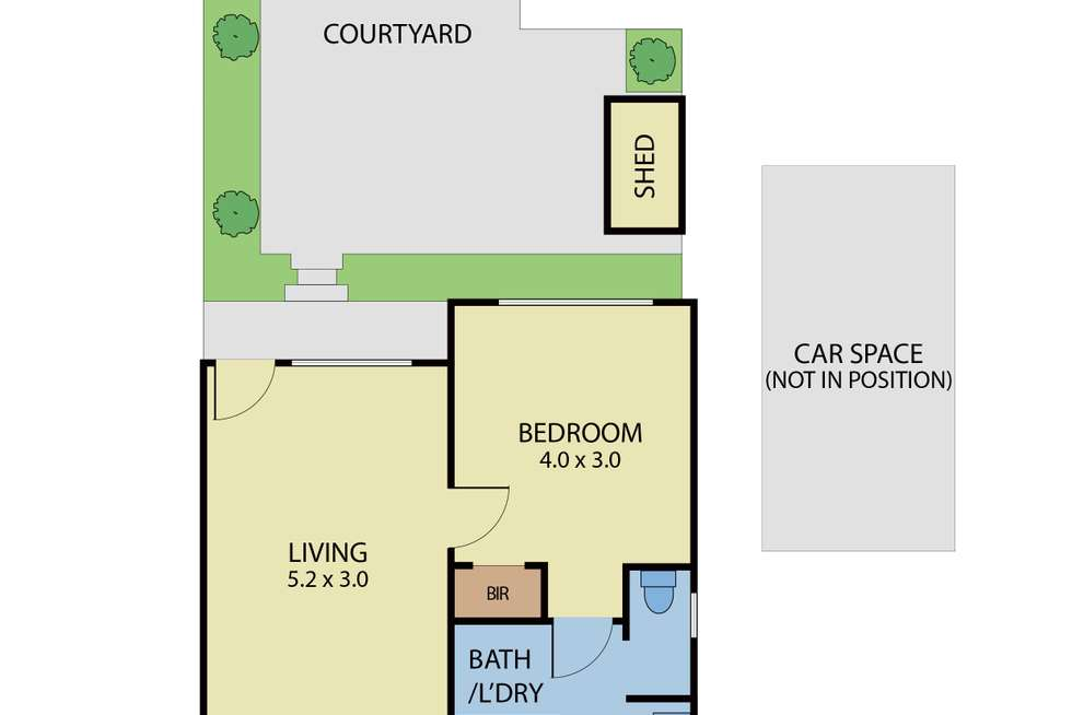 Floorplan of Homely apartment listing, 1/26 Shepparson Avenue, Carnegie VIC 3163