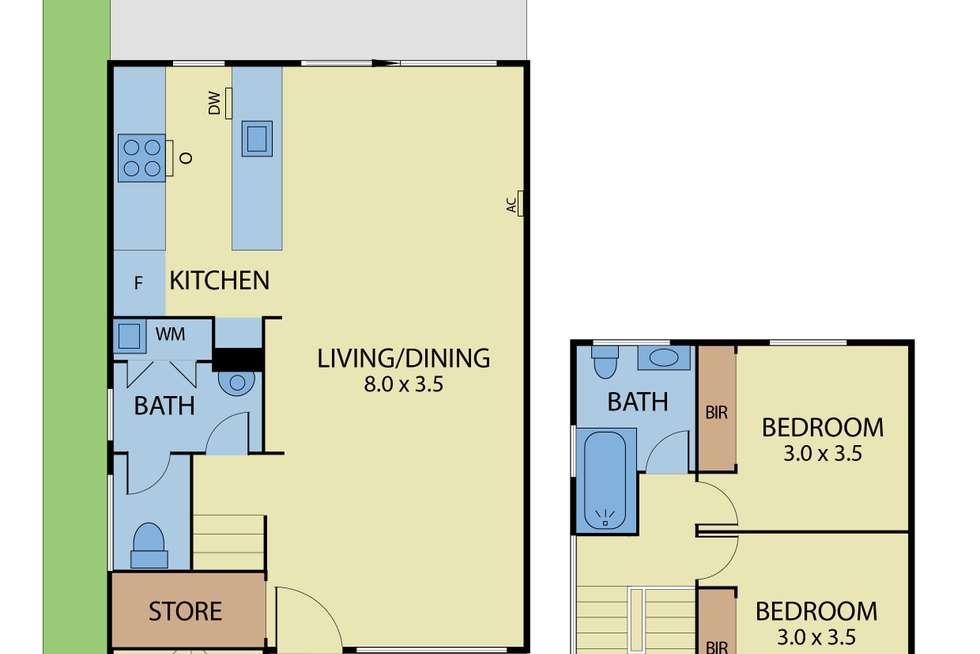 Floorplan of Homely townhouse listing, 9/10 Emily Street, Carnegie VIC 3163