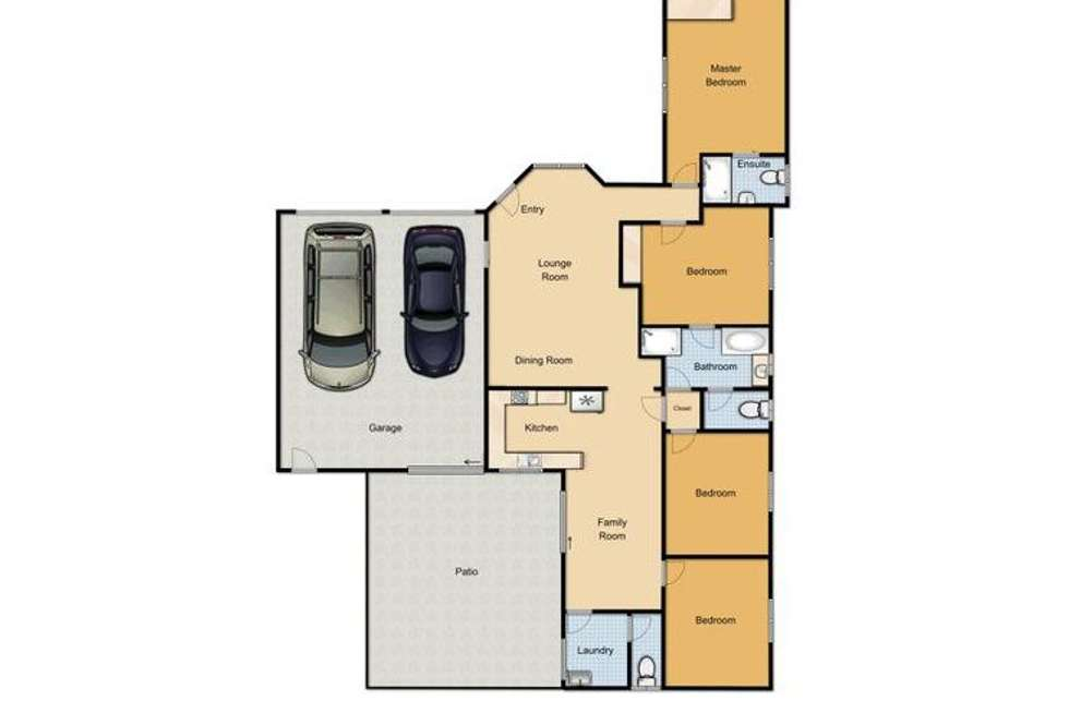 Floorplan of Homely house listing, 9 Tulip Close, Fitzgibbon QLD 4018