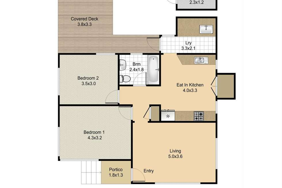 Floorplan of Homely house listing, 283 Hamilton Road, Chermside QLD 4032