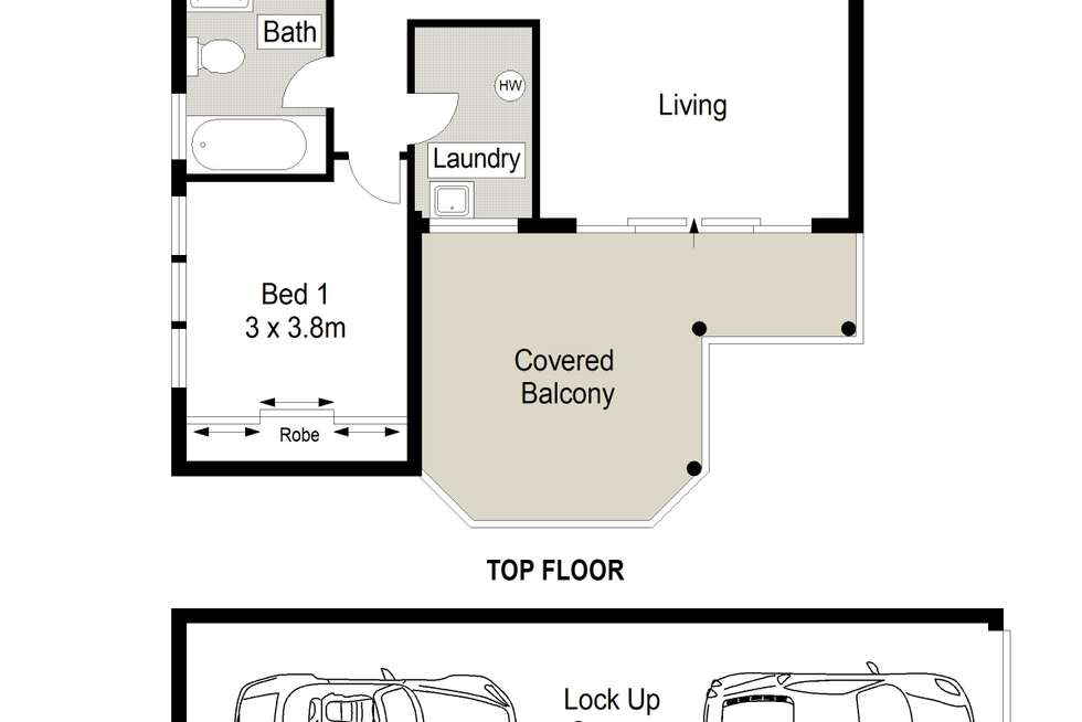 Floorplan of Homely apartment listing, 20/3-5 Banksia Road, Caringbah NSW 2229