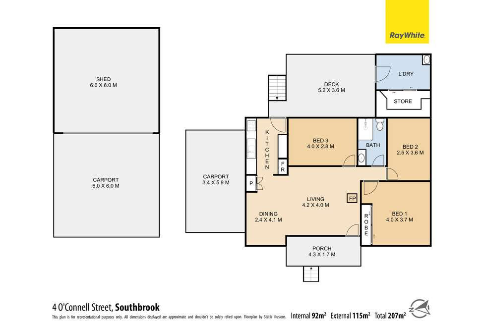 Floorplan of Homely house listing, 4-6 O'Connell Street, Southbrook QLD 4363