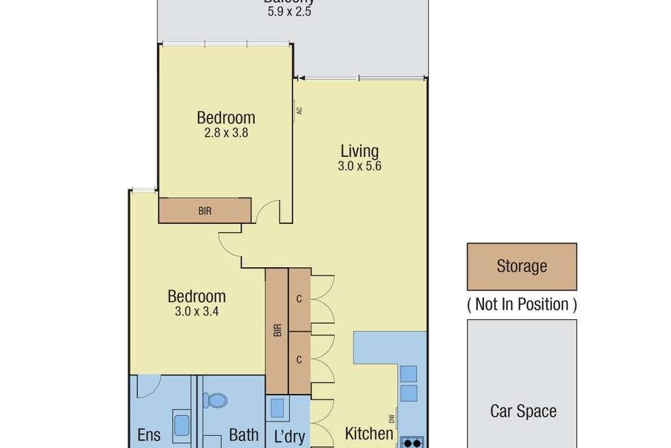 Floorplan of Homely apartment listing, 107/8 Elliott Avenue, Carnegie VIC 3163