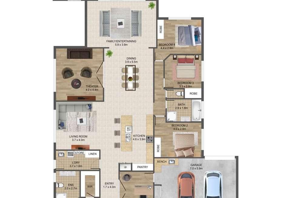 Floorplan of Homely house listing, 15 Banker Street, Kurunjang VIC 3337