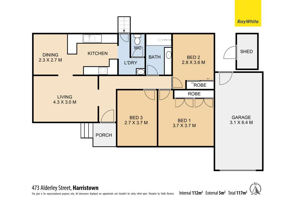 Floorplan of Homely house listing, 473 Alderley Street, Harristown QLD 4350