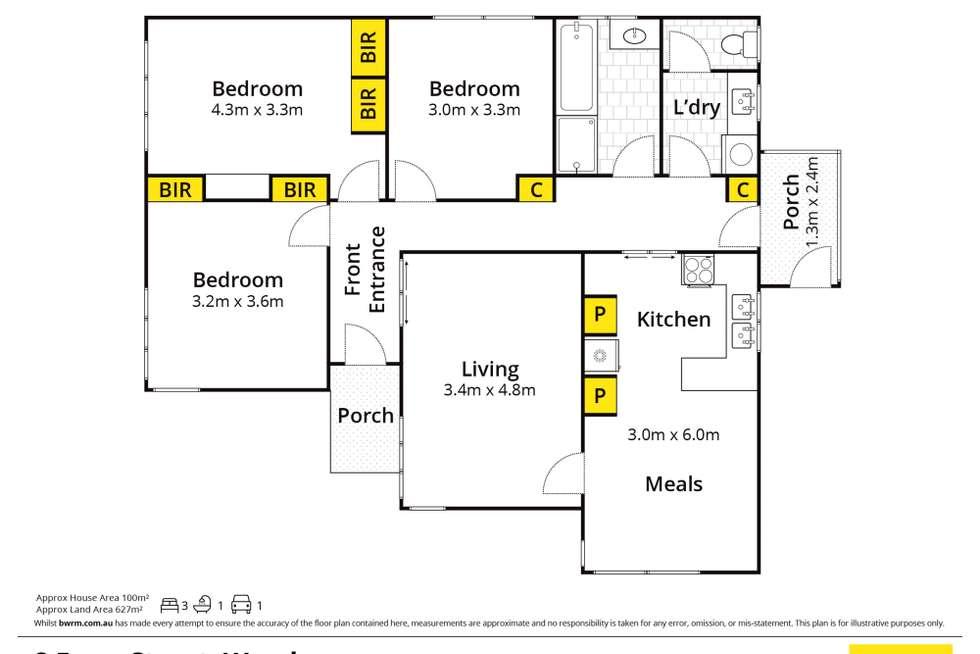 Floorplan of Homely house listing, 8 Form Street, Wendouree VIC 3355