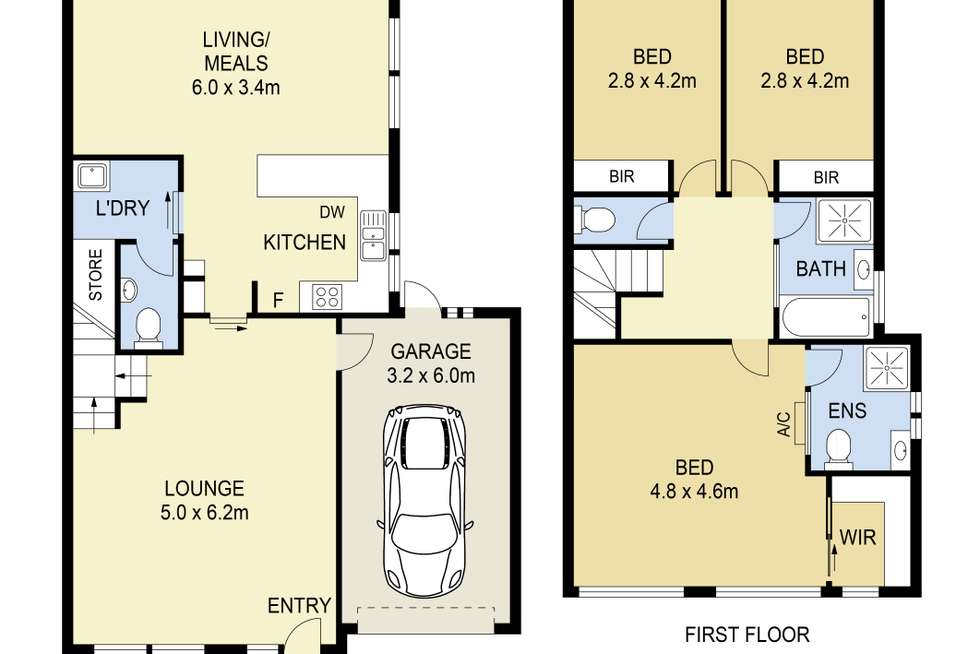 Floorplan of Homely townhouse listing, 2/156 Copernicus Way, Keilor Downs VIC 3038