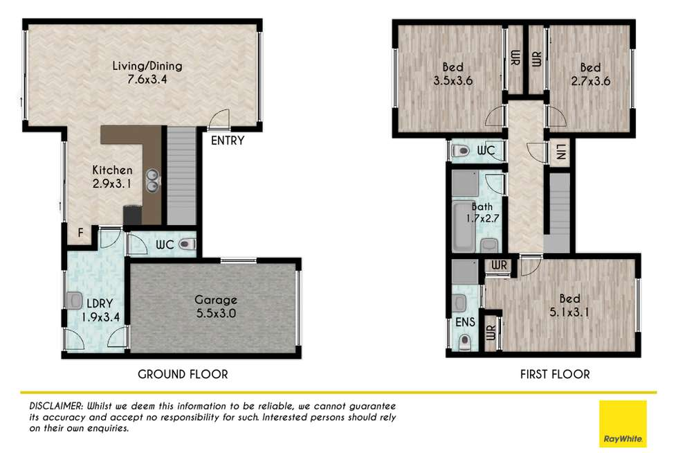 Floorplan of Homely townhouse listing, 12/32-34 Douglas Road, Quakers Hill NSW 2763