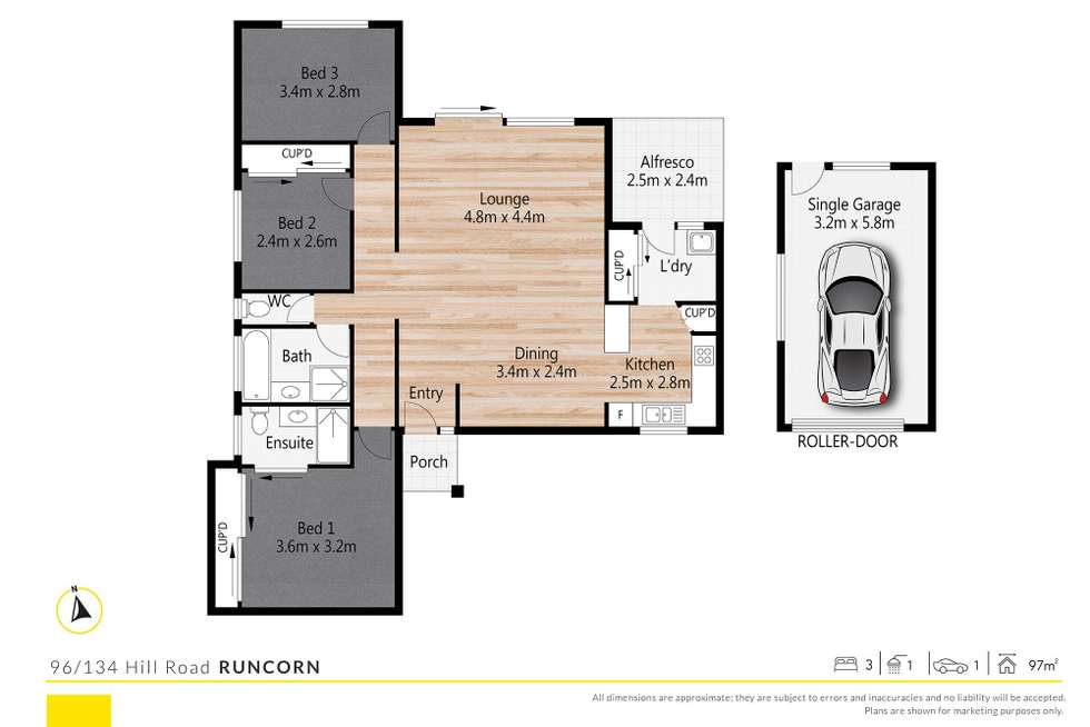 Floorplan of Homely villa listing, 96/134 Hill Road, Runcorn QLD 4113