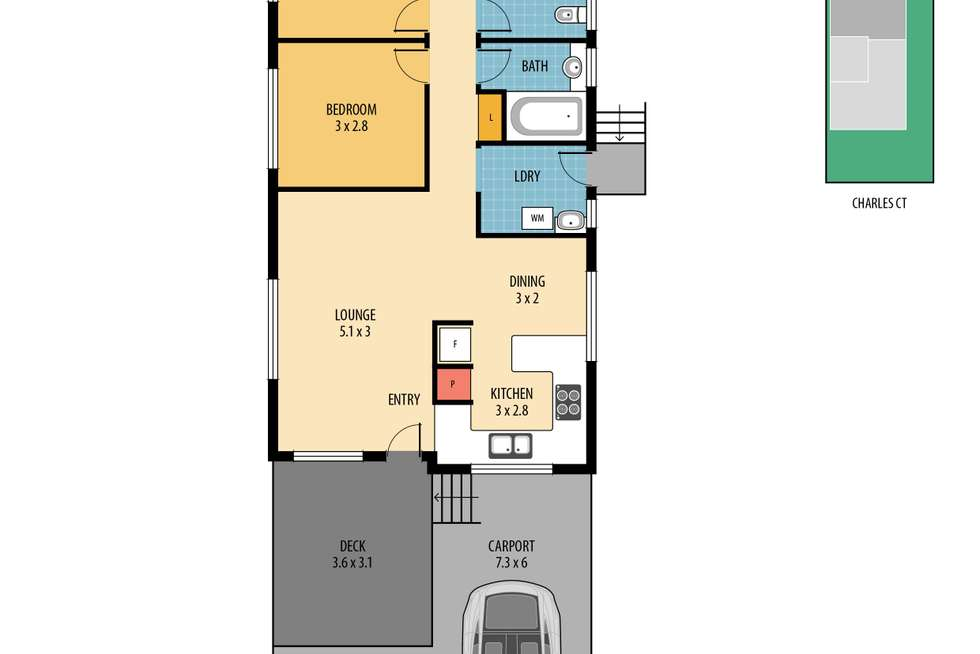 Floorplan of Homely house listing, 5 Charles Court, Deception Bay QLD 4508