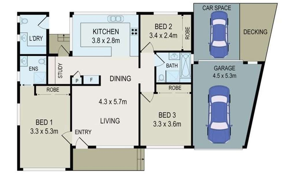 Floorplan of Homely house listing, 8 Lesley Crescent, Mortdale NSW 2223