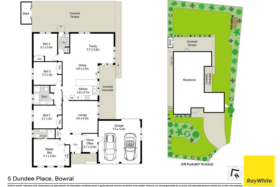 Floorplan of Homely house listing, 5 Dundee Place, Bowral NSW 2576