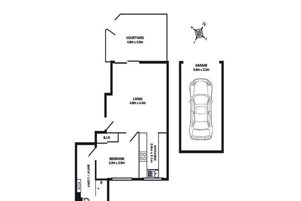 Floorplan of Homely apartment listing, 3/9-11 Harvard Street, Gladesville NSW 2111