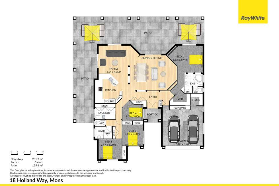 Floorplan of Homely acreageSemiRural listing, 18 Holland Way, Mons QLD 4556