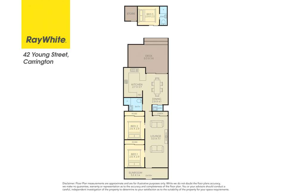 Floorplan of Homely house listing, 42 Young Street, Carrington NSW 2294