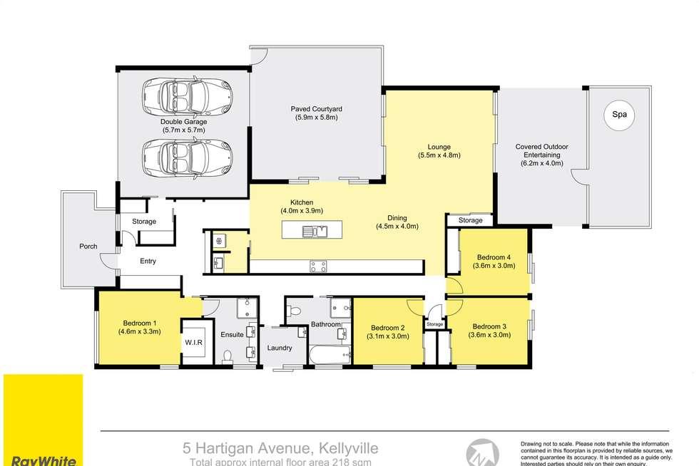 Floorplan of Homely house listing, 5 Hartigan Avenue, Kellyville NSW 2155