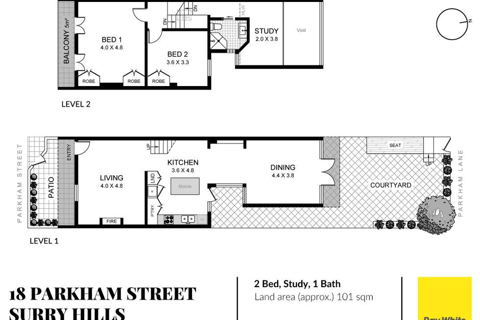 Floorplan of Homely house listing, 18 Parkham Street, Surry Hills NSW 2010