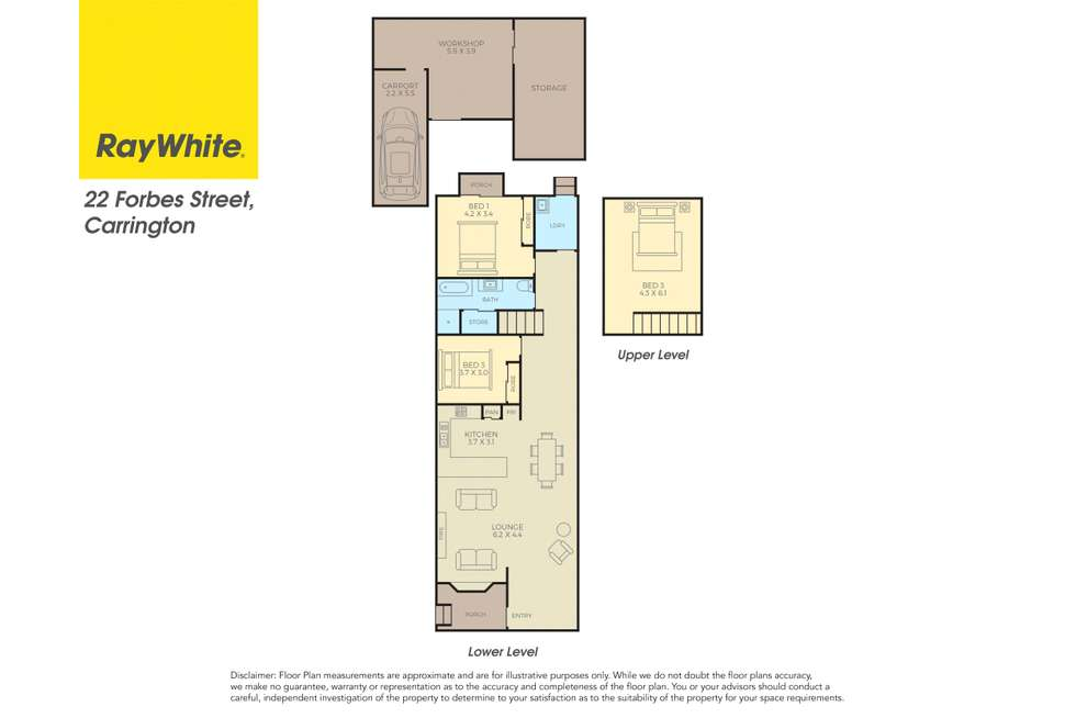 Floorplan of Homely house listing, 22 Forbes Street, Carrington NSW 2294