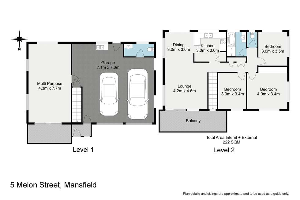 Floorplan of Homely house listing, 5 Melon Street, Mansfield QLD 4122