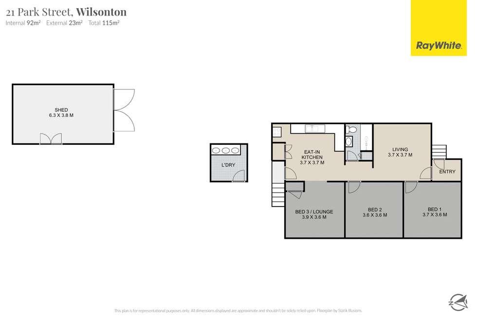 Floorplan of Homely house listing, 21 Park Street, Wilsonton QLD 4350
