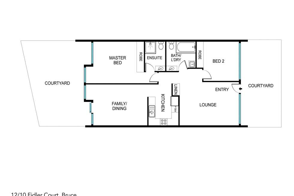 Floorplan of Homely townhouse listing, 12/10 Fidler Court, Bruce ACT 2617
