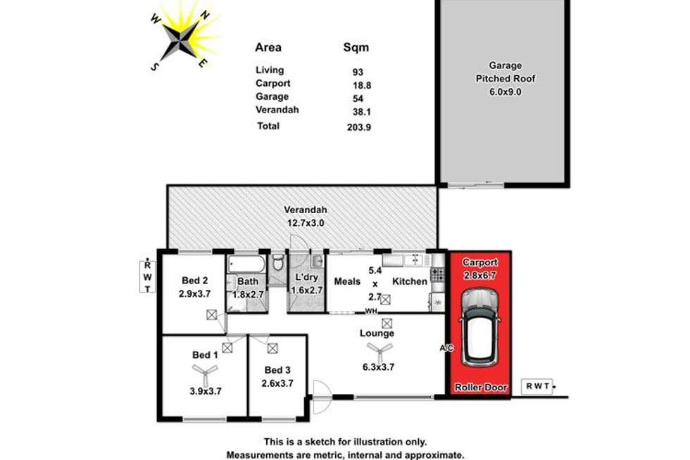 Floorplan of Homely house listing, 12 Fairbanks Drive, Paralowie SA 5108