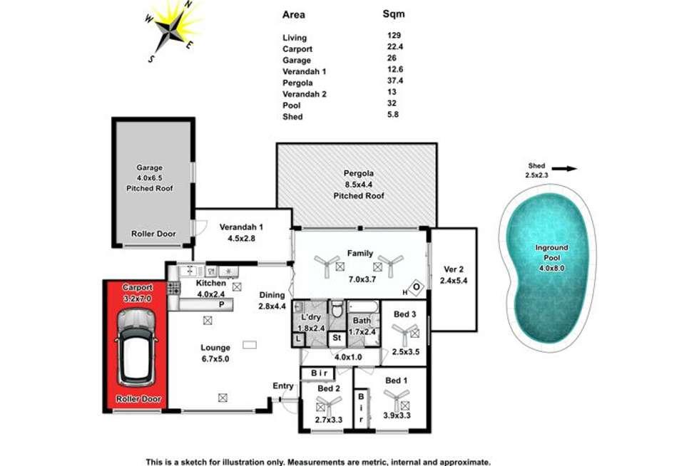 Floorplan of Homely house listing, 49 Damian Drive, Salisbury Heights SA 5109
