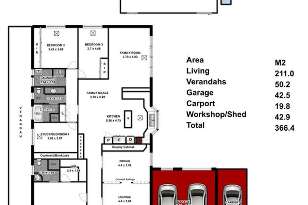 Floorplan of Homely house listing, 112 Highfield Drive, Hillbank SA 5112