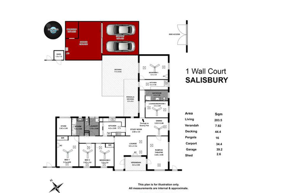 Floorplan of Homely house listing, 1 Wall Court, Salisbury SA 5108