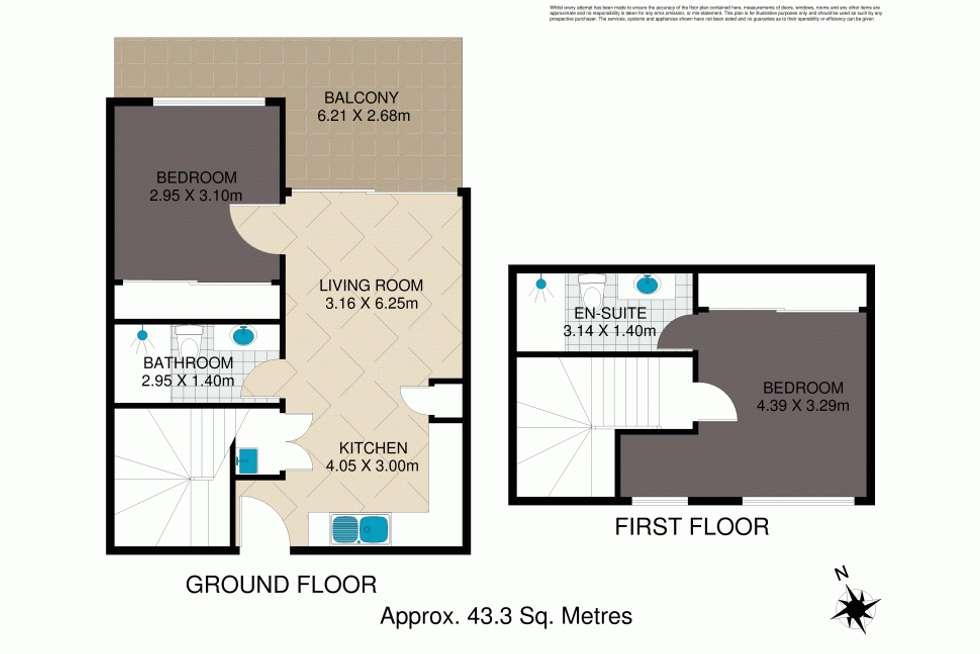 Floorplan of Homely unit listing, 6/29 Farm Street, Newmarket QLD 4051